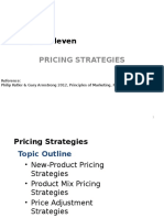 Chapter 11-Pricing Strategies
