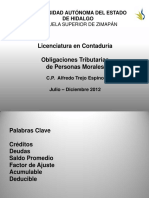 Obligaciones Tributarias PM