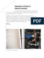 Médicos Alemanes Contra La Experimentación Animal