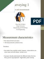 Error and Measurement