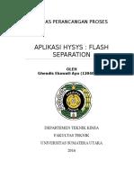Aplikasi Hysys Pada Flash Separation Ghendisayu