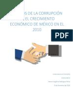 Efectos de la corrupción en el crecimiento económico de México