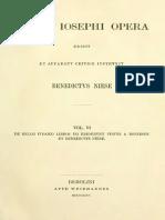 Niese-Flavii Ioseph Opera-Vol. VI-De Bello Ivdaico Libros VII Ediderunt Ivstus a Destinon et Benedictus Niese-1884.pdf.pdf