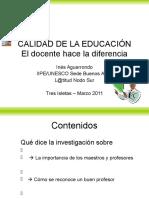 Conferencia Ines Aguerrondo en Tres Isletas-2