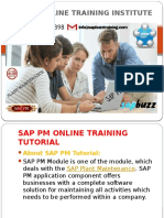 SAP PM ONLINE TRAINING IN USA|UK|HYDERABAD