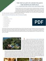 Top 10 List of Luxury Villas Dominican Republic