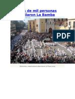 Más de Mil Personas Bailaron La Bamba