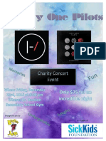 charity concrt poster
