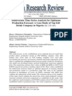 Multivariate Time Series Analysis for Optimum Production Forecast, A Case Study of 7up Soft Drink Company in Nigeria