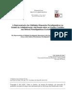 A representação das múltiplas dimensões paradigmáticas no estudo da administração