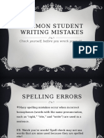 common student writing mistakes