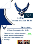 Military Communication Skills