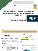 DER AGRARIO Incorporacion de Tierras de Propiedad Social Al Desarrollo Urbano