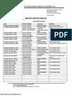 CEC15 meeting schedule