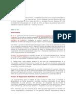 El TLC Entre Peru y Panamá Entro en Videncia El Día Martes 01 de Mayo de 2012