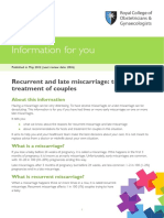 Pi Recurrent and Late Miscarriage Tests and Treatment of Couples