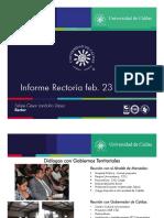 Informe Rector U. de Caldas al Consejo Superior - 23 de Febrero de 2016