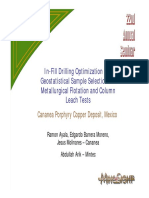 In-fill Drilling Optimization and Geostatistical Sample Sel