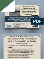 1e Seleccion de Tecnologias de Tratamiento de Aguas Residuales