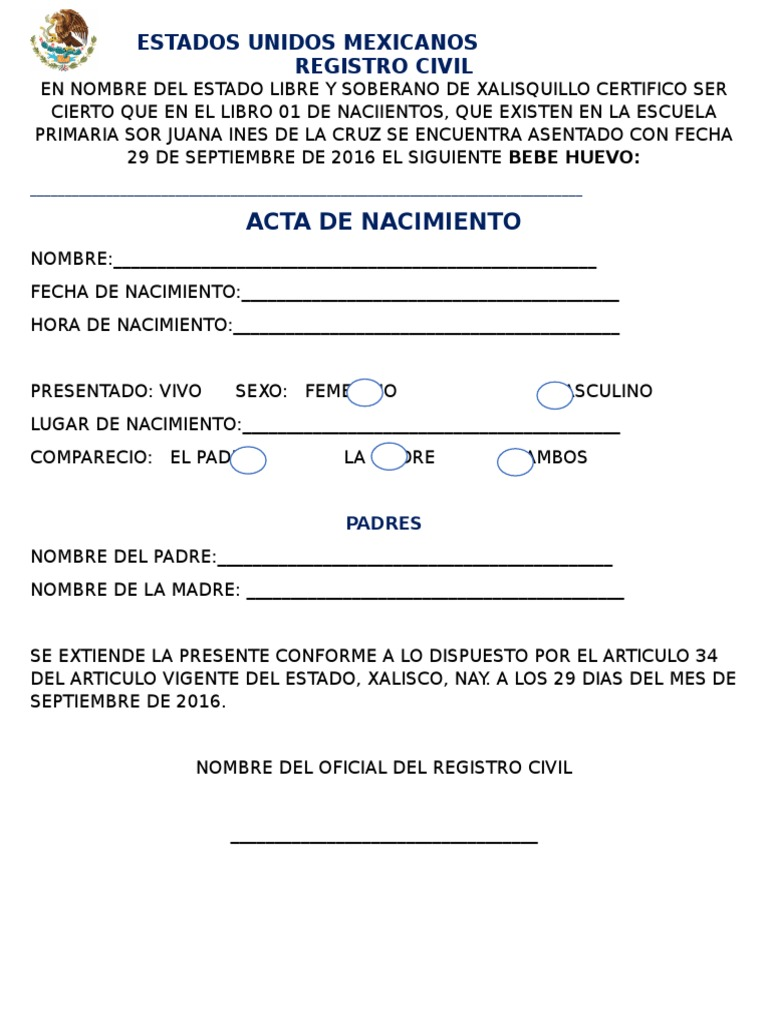 Hermosa Certificado De Nacimiento Reno Bandera - Cómo conseguir mi ...