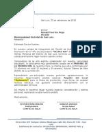 Carta Solicitando Padrino de Promocion Alcalde