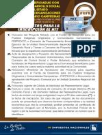 Requisitos Tramite de NIT - Comunidades Beneficiarias con Proyectos