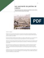Hallan El Mayor Yacimiento de Petróleo de La Historia de EEUU
