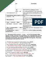 Comparison Sentence Transformation Exercises T