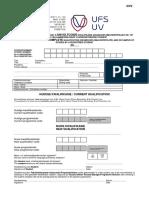 UFS Transfer DV2 Form