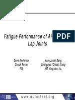 33 - Fatigue Performance of AHSS GMAW Lap Joints