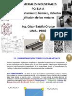 Comportamiento Térmico, Defectos y Difusión de Los Metales