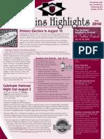 Hopkins Highlights - July 2010