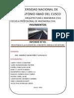 Informe de Laboratorio Resistencia a La Flexion Del Concreto
