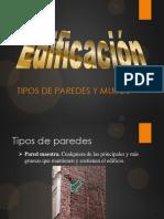 Edificación Tipos de Paredes y Muros.