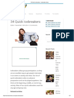 34 Quick Icebreakers - Icebreaker Ideas