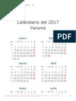 Calendario de Panamá del 2017
