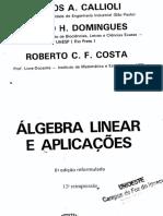 Callioli, C. a. - Álgebra Linear e Aplicações - 6ªed