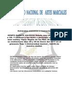 Bases 11º Torneo de Artes Marciales - Open Región de los Ríos