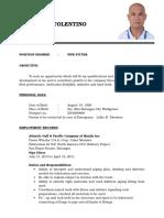 Manuel d. Tolentino Resume