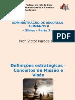 Slides - Parte 3 - Visao e Missao