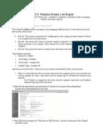 CIS 231 Router Lab Report Team Sample