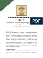 Cantata Popular Santa María de Iquique