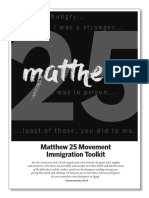 Sojourners Matthew 25 Toolkit on Immigration