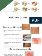 Lesiones primarias dermatologia