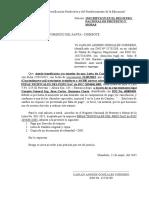 Solicitud a La Camara de Comercio Del Santa Gonzales Mayo 2015