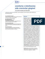 Esterasa Leucocitaria e Interleucina 1 Beta en Fluido Crevicular Gingival