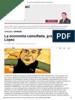 Pablo Tigani - La Economía Camuflada, Gracias a López - DR - 2016-07-08