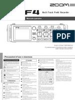 ZOOM F4 Manuale Operativo (Italian)