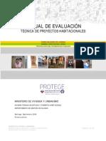 Manual de evaluación técnica de proyectos habitacionales.