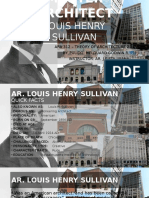 Master Architect (Louis Henry Sullivan)